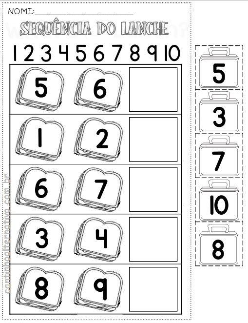 Atividades de Alfabetização Matemática para Imprimir