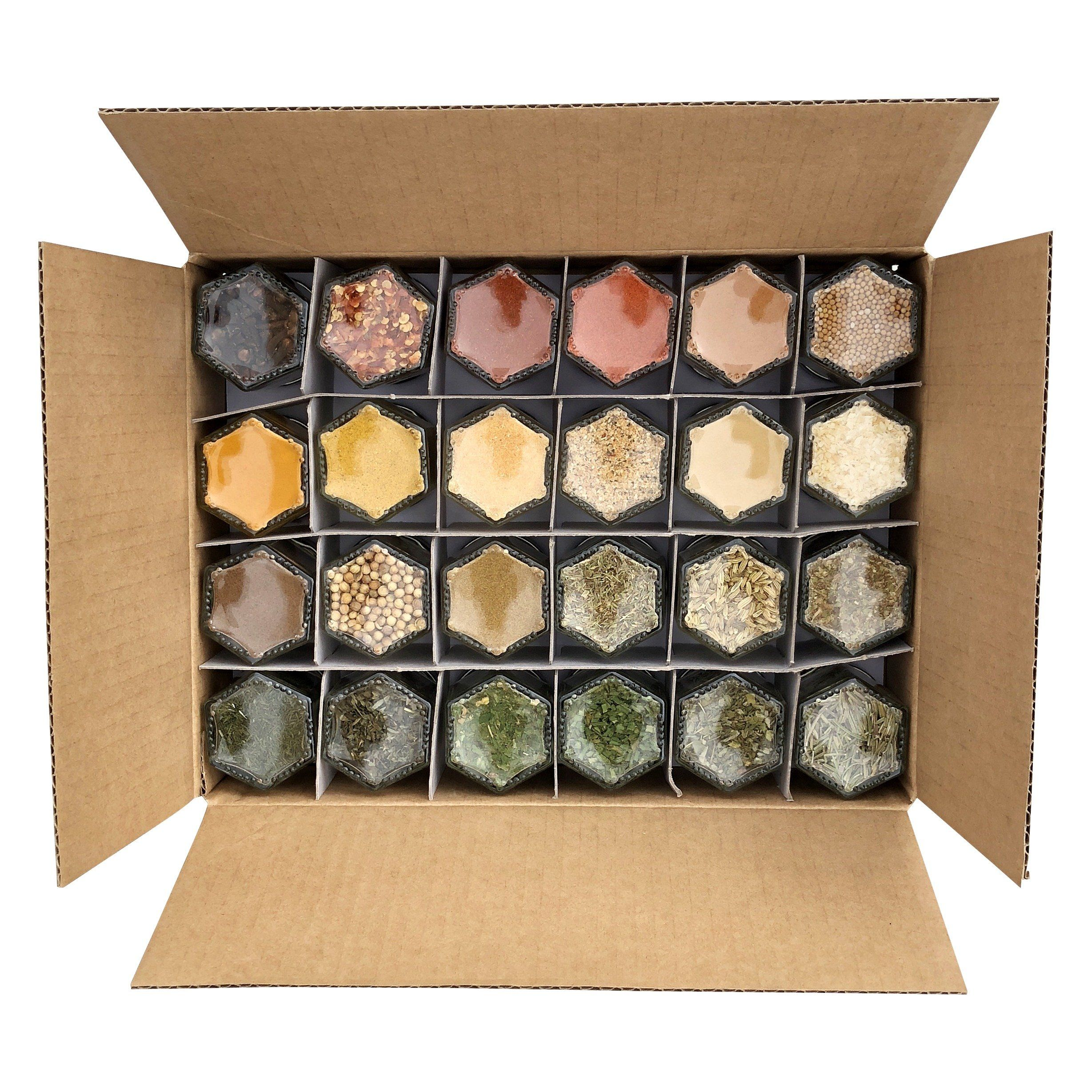 Organic Spice Rack Unique Everything Pantry Kit  24 Small Magnetic Jars Filled With Organic Decorating Design
