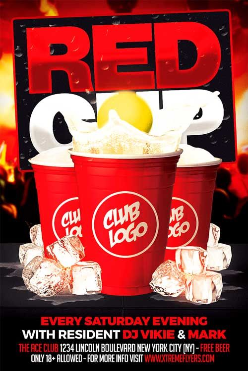 Red Cup Party Flyer Template  HttpXtremeflyersComRedCup