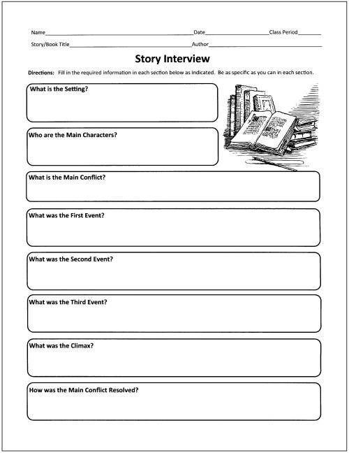 Free Graphic Organizers for Teaching Literature and Reading - with ...
