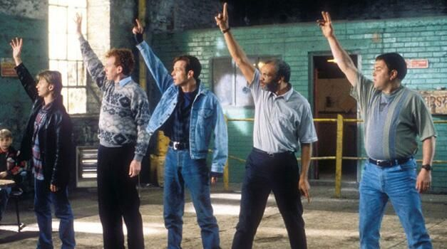 """A scene from """"The Full Monty"""" (1997)."""