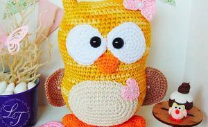 Amigurumi Minion Tarifi : Mamãe coruja de crochê fio bella arte