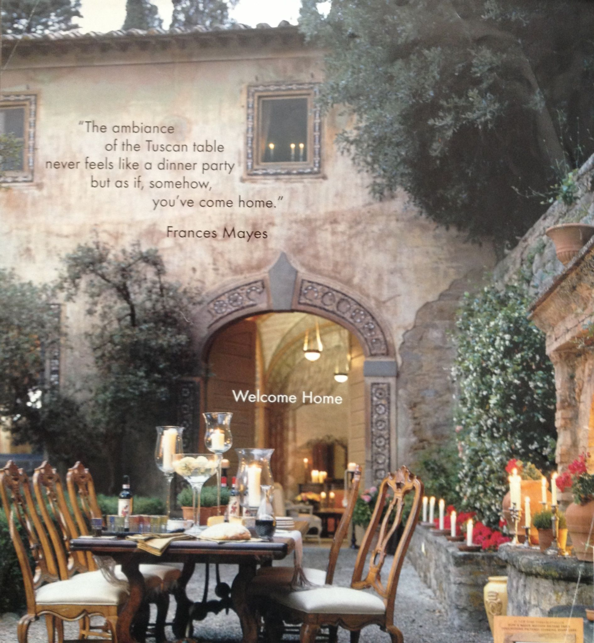 Al fresco dining tuscan style all it needs is some family