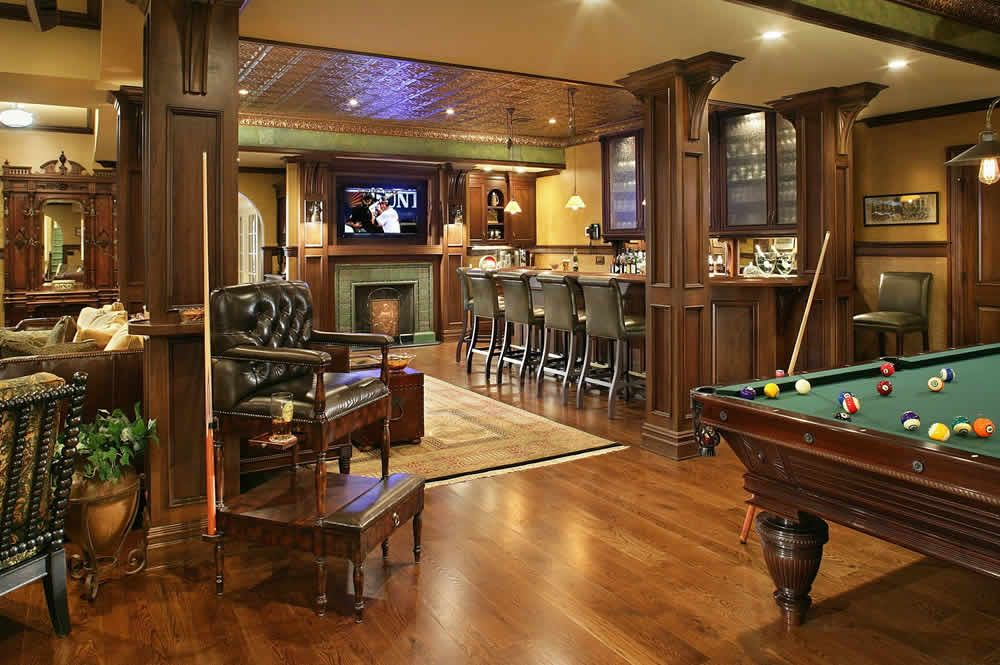 The Coolest Man Caves On Earth Basement Bar Basement Bar Plans