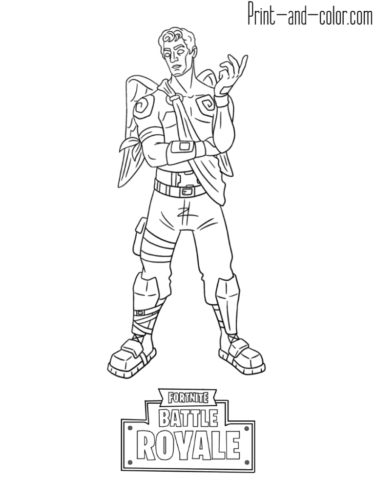 Fortnite battle royale coloring page Frozen Love Ranger
