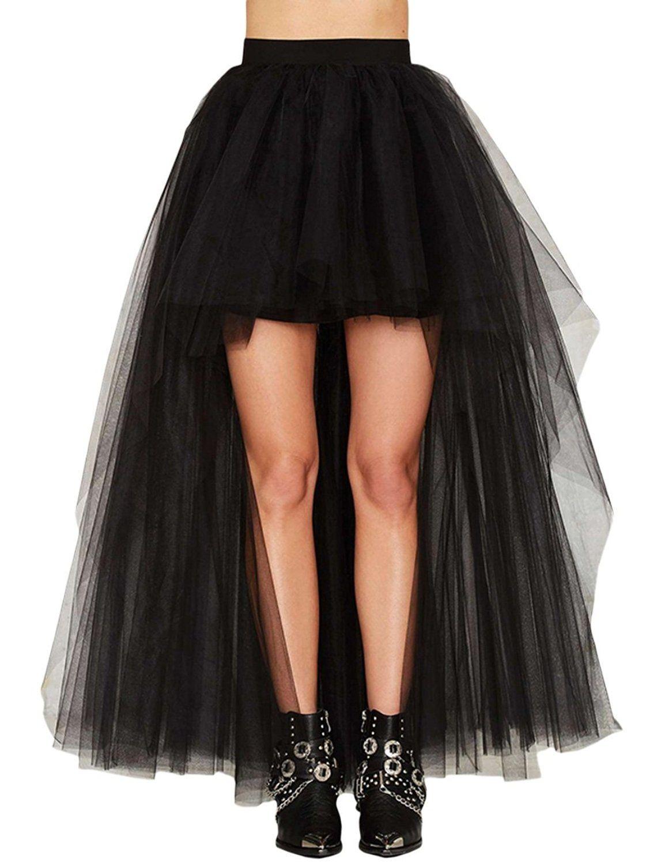 458f3263d1 Gameyly Women's Front Short Long Back Tulle Tutu Skirt at Amazon Women's…
