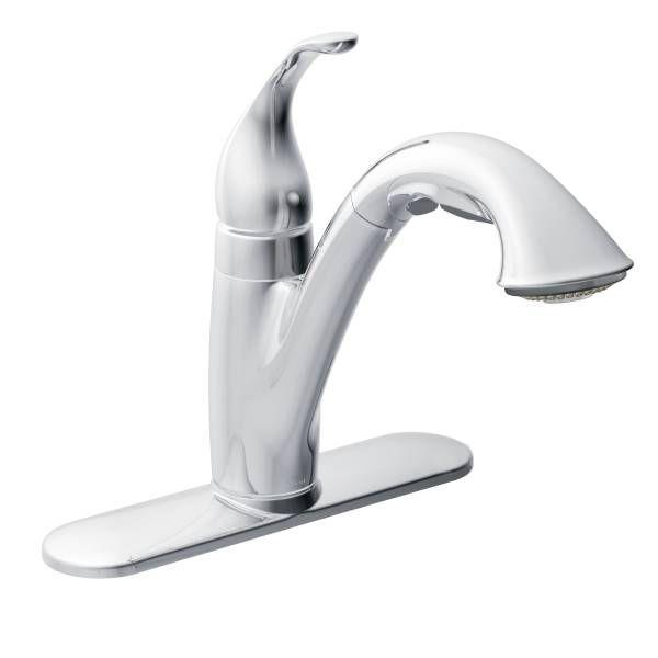 Camerist Chrome One Handle Pullout Kitchen Faucet   7545C   Moen