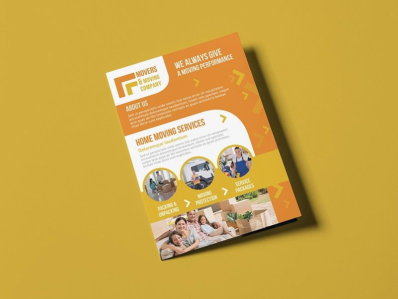 Free-Movers+&+Moving+Company-A5+Brochure+Template | Free PSD Mockups ...