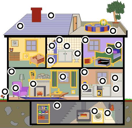 les pi ces de la maison casas maison. Black Bedroom Furniture Sets. Home Design Ideas
