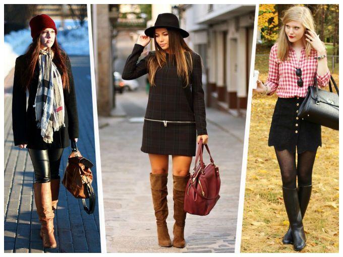 10 formas para combinar tus botas altas en otoño | Vestido y