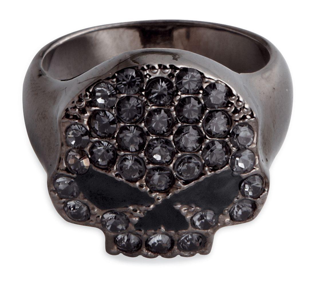 99413 14vw Harley Davidson 174 Womens Black Hematite Skull