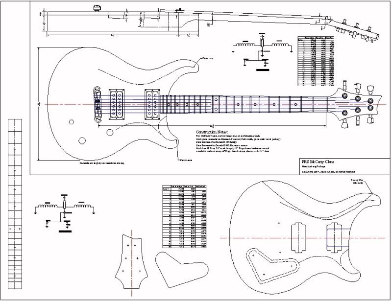 Les Paul Body Template Printable - Invitation Templates How to - plan template in pdf