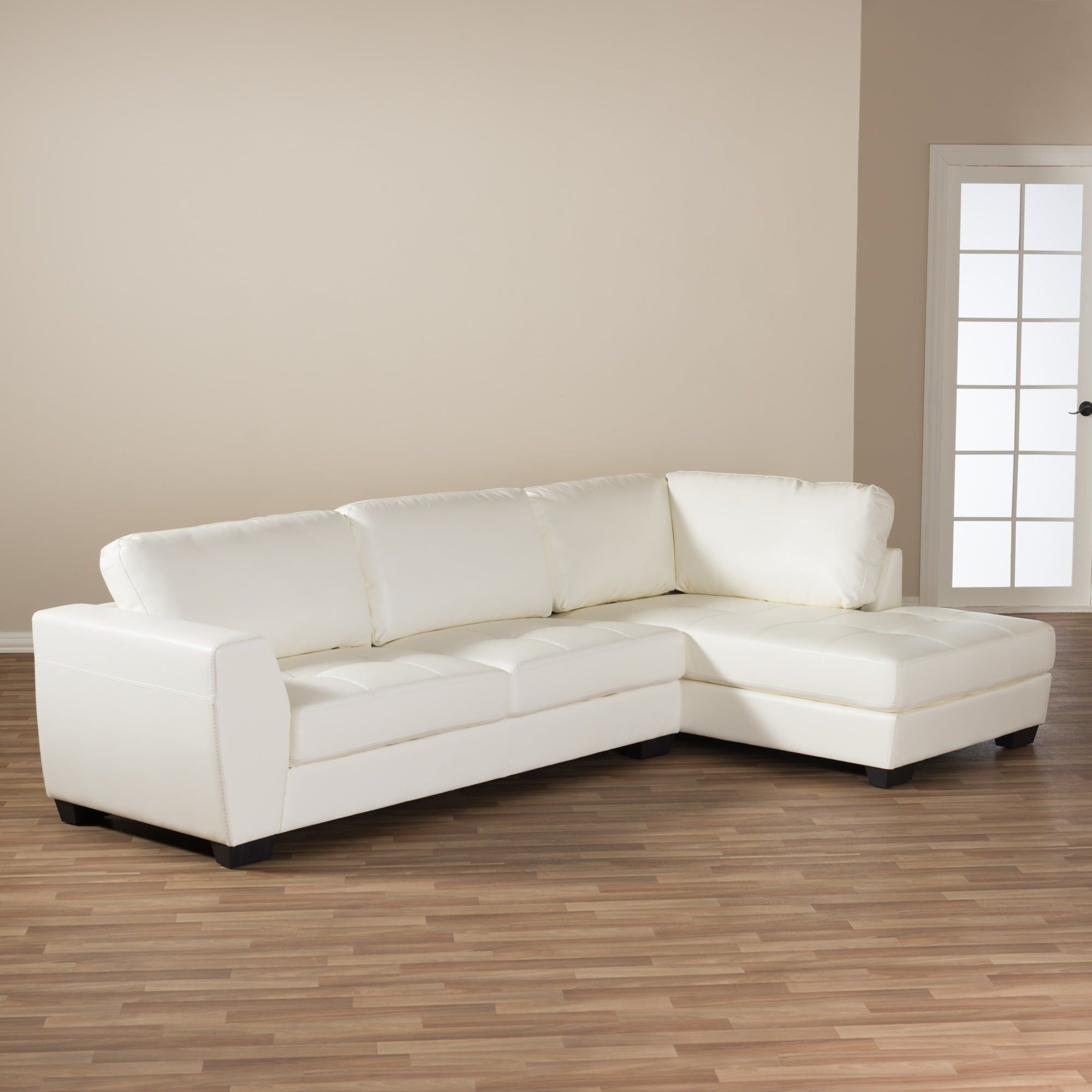 Awesome Maison Rouge Lee White Leather Modern Sectional Sofa Set Gmtry Best Dining Table And Chair Ideas Images Gmtryco