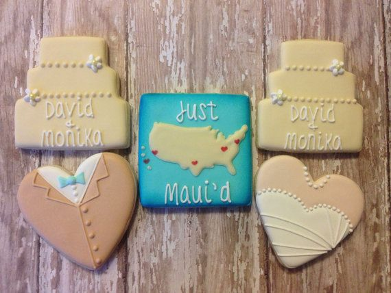 Wedding Cookies by SweetCBakeShop on Etsy, $42.00