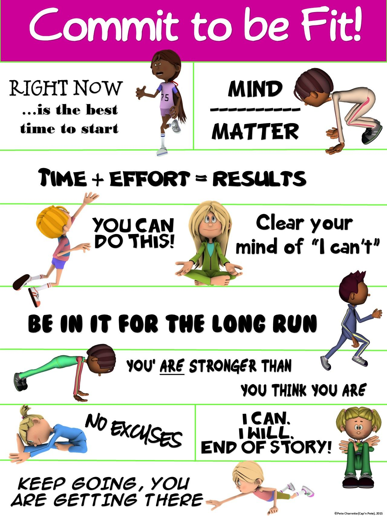PE Poster Commit to be Fit! Elementary physical