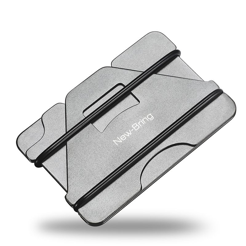 New Fashion White Slim Money Clip Credit Card Holder Wallet Stainless Steel Tool
