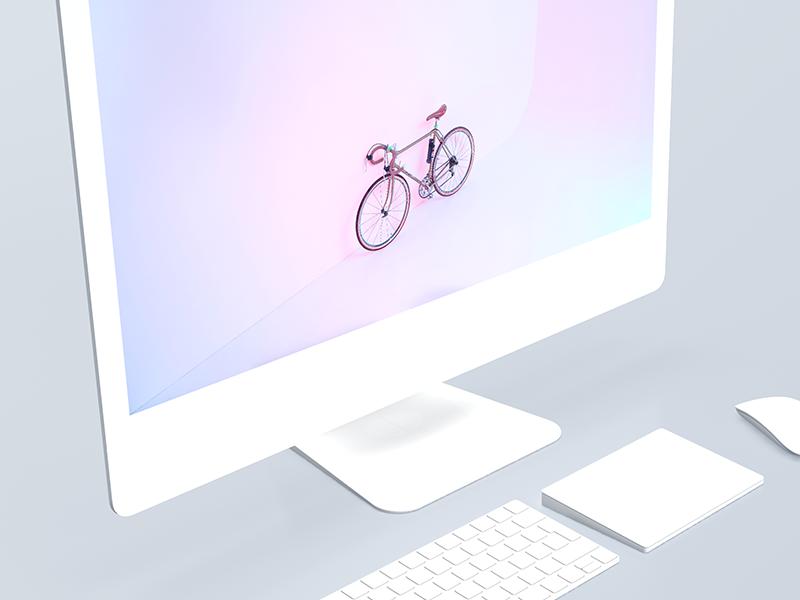 Imac 5k Mockups White Matte Imac Imac Desk Setup New Apple Watch