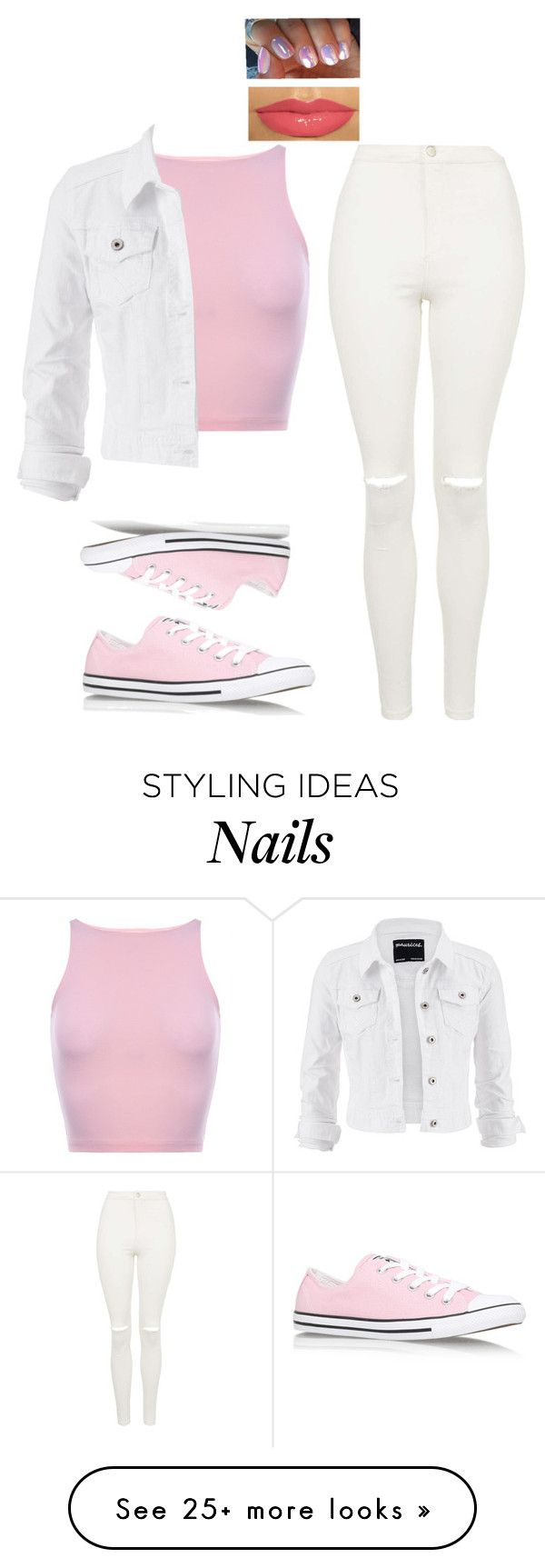 """Geek in pink"" by be-u-tiful101 on Polyvore featuring maurices, Topshop and Converse"