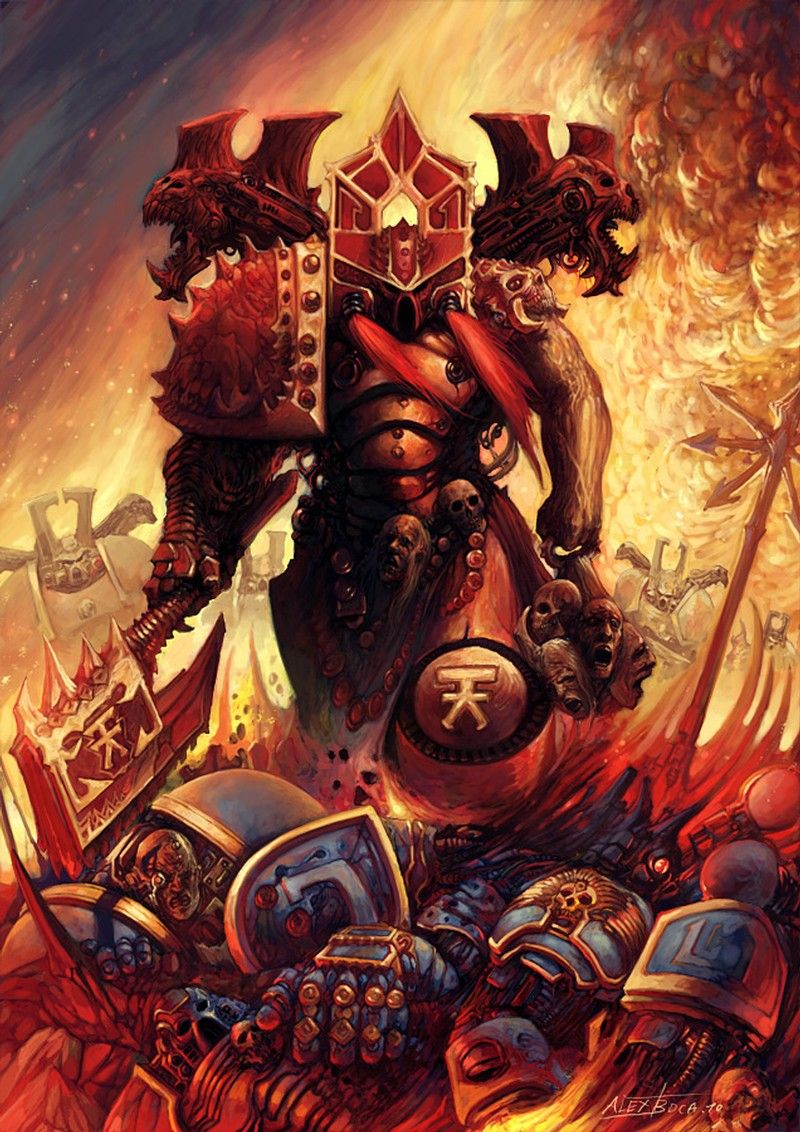 Kharn The Betrayer Warhammer Warhammer 40k Artwork Warhammer 40k