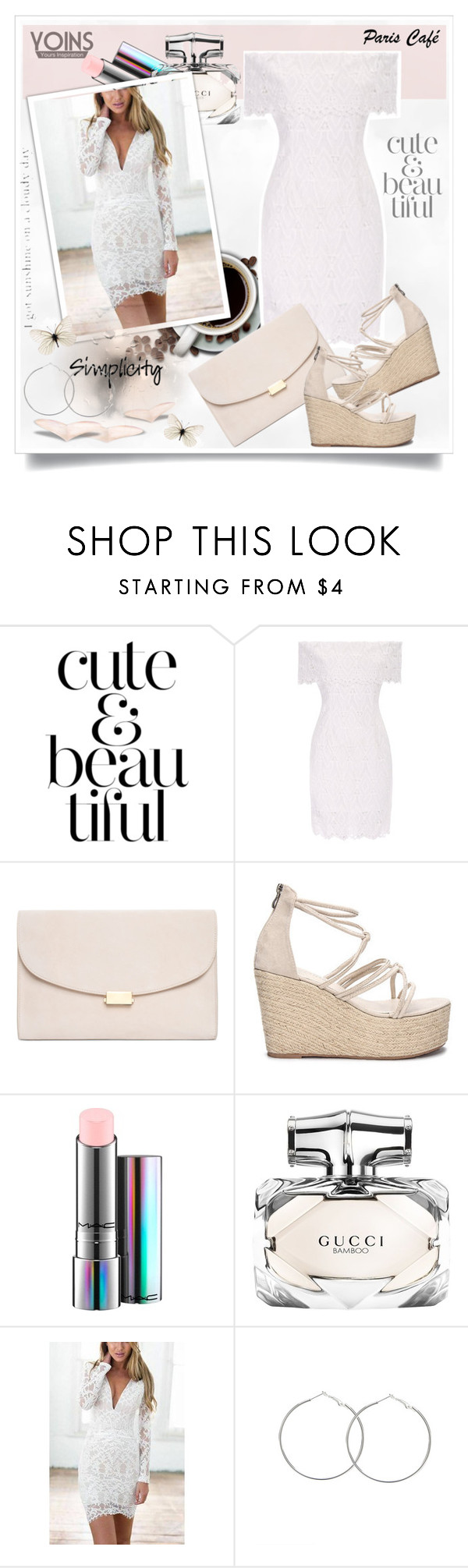 """""""Yoins135"""" by sneky ❤ liked on Polyvore featuring Mansur Gavriel, MAC Cosmetics, Gucci, yoins, yoinscollection and loveyoins"""