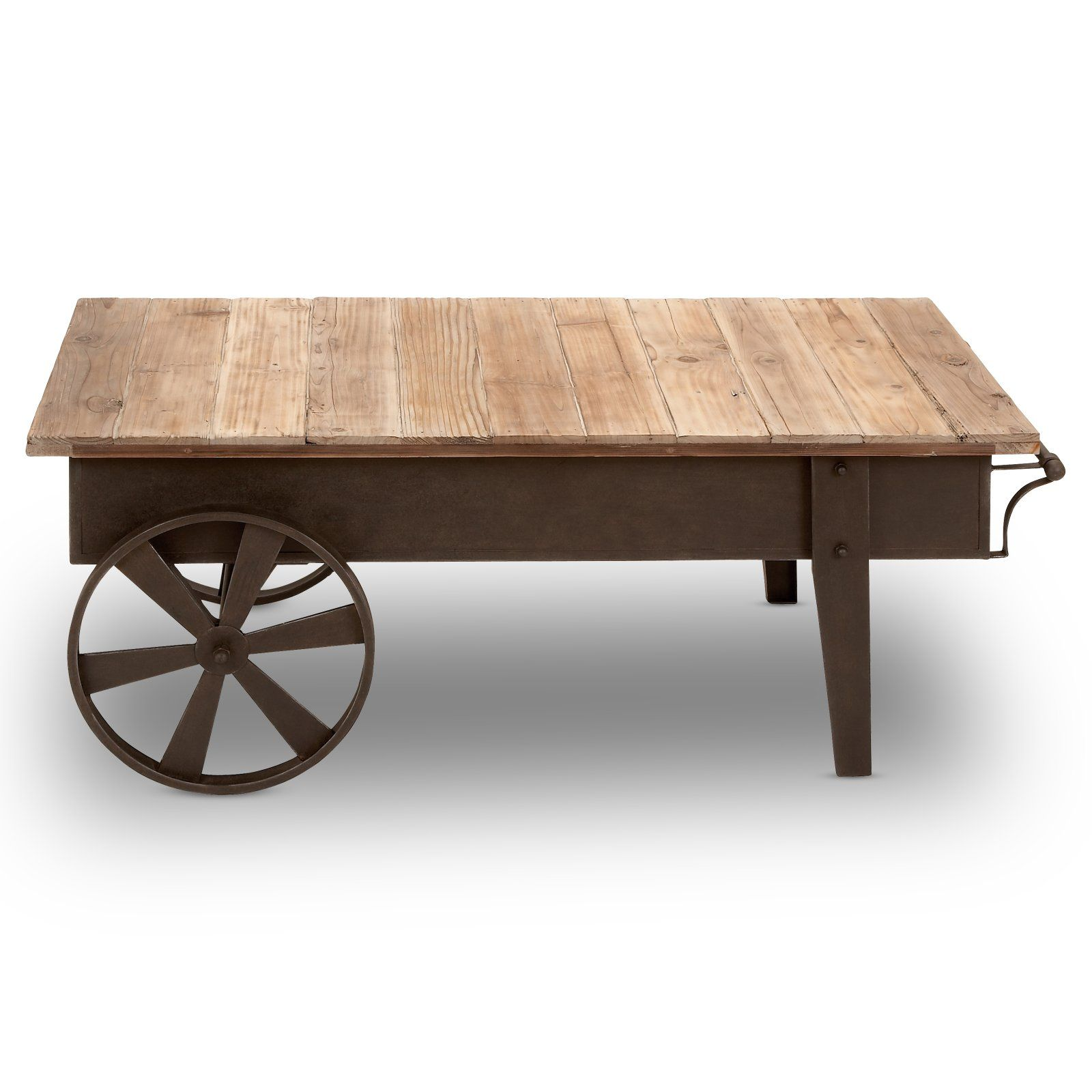 45 In Metal And Wood Cart Style Coffee Table At The Foundary Rustic Coffee Tables Industrial Style Coffee Table Coffee Table With Casters [ 1600 x 1600 Pixel ]