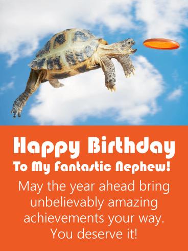 Amazing Turtle Funny Birthday Card For Nephew Birthday Greeting Cards By Davia Happy Birthday Nephew Funny Birthday Card For Nephew Birthday Wishes For Nephew