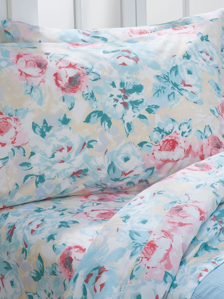 Watercolor Fl Percale Sheet Set Pink Yellow And Teal Pastels Come Full Bloom On These Cool Crisp 100 Cotton Sheets In Celebration Of The