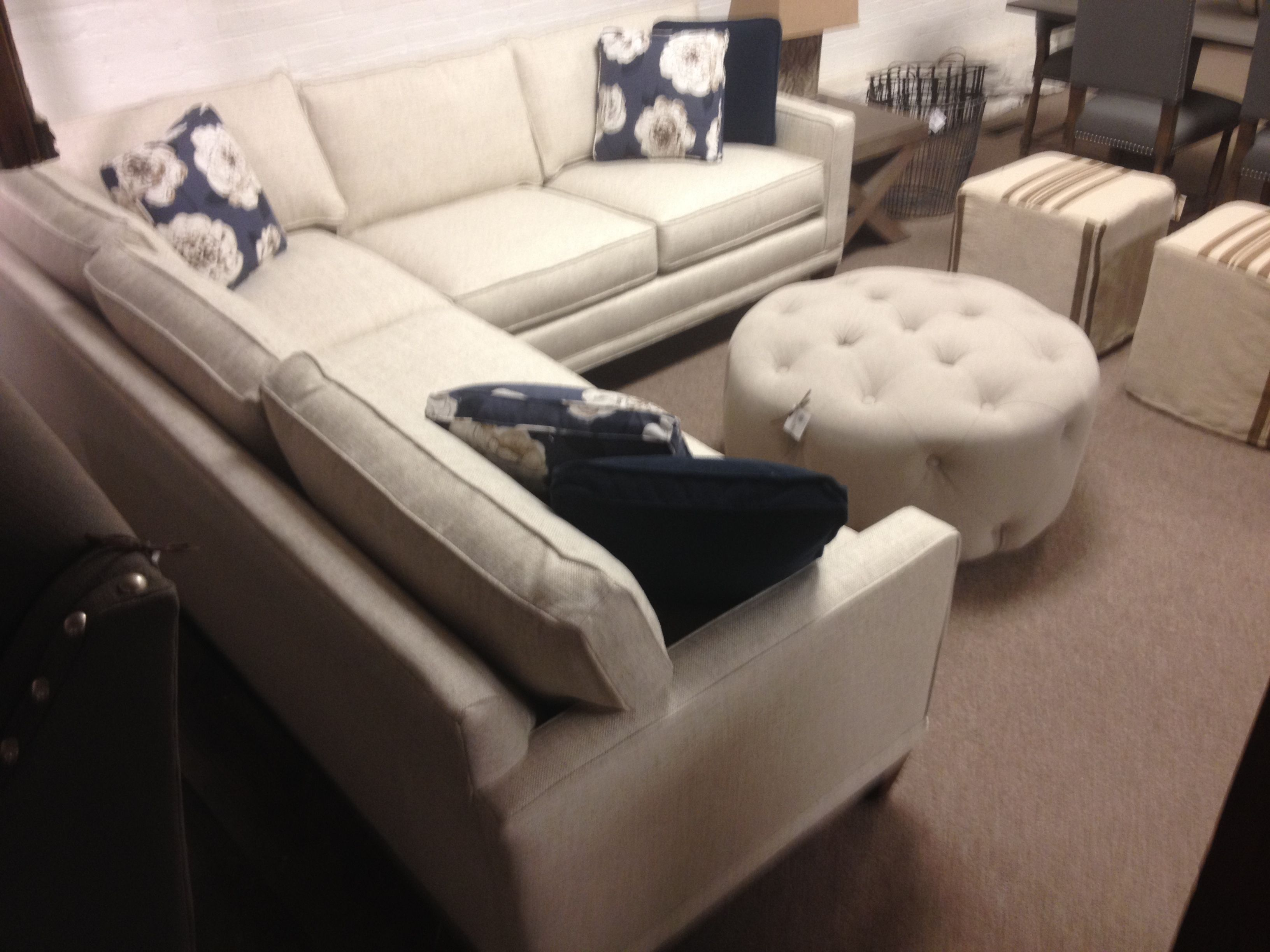 Rowe's Townsend style sofa in sectional size.