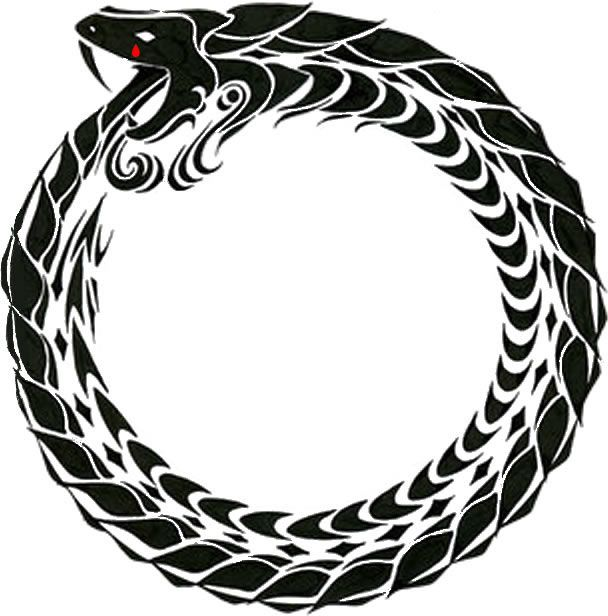 Ouroboros Ancient Symbol Of Rebirth And Renewal Of Life Art