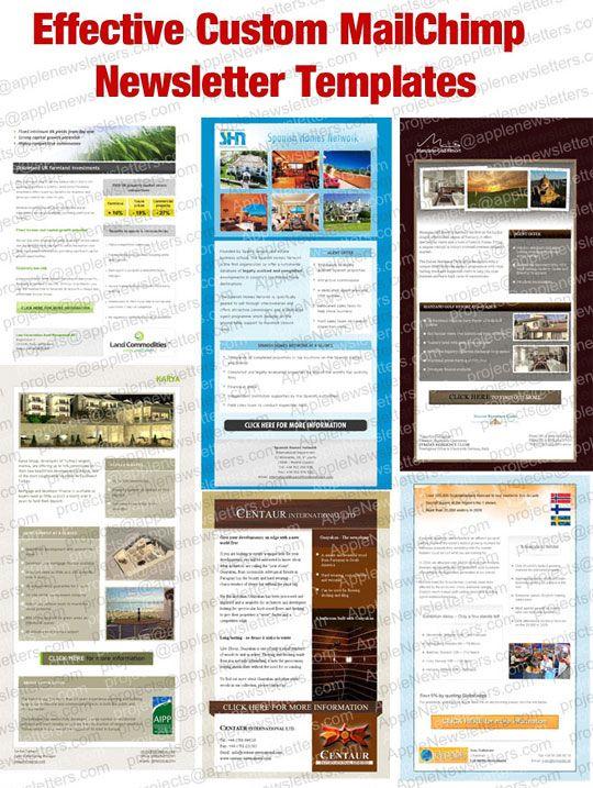 effective custom mailchimp newsletter templates custom html email