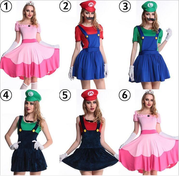 super mario costume women luigi costume clothing sexy plumber costume mario  bros fantasia super mario bros 40503179bfb