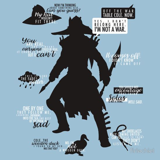 Dragon Age Cole Quotes T Shirt By Firlachiel Dragon Age Characters Dragon Age Dragon Age Games
