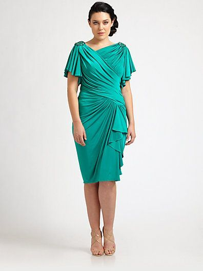 Plus Size After Five Dresses | Ruched Dress - Saks.com (Thanks to @A ...