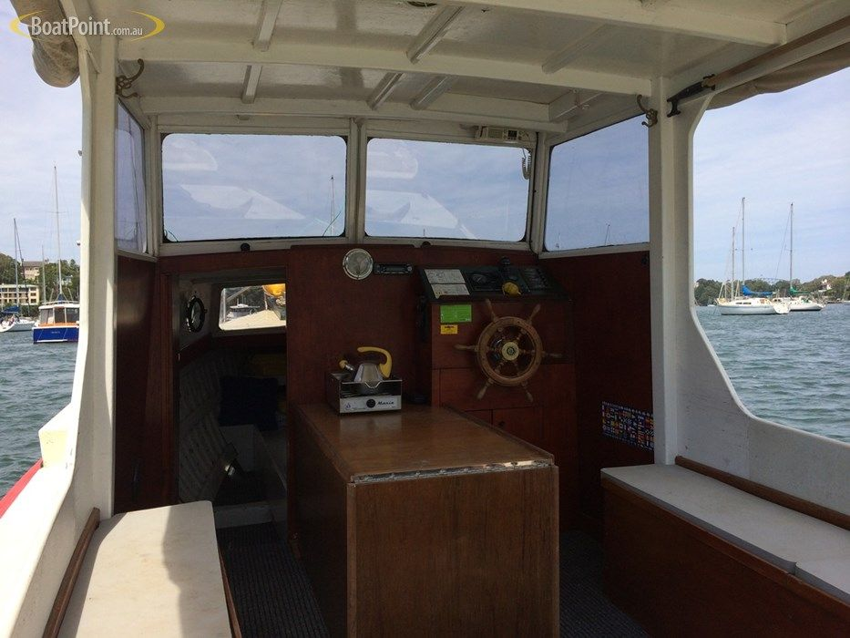 1950 timber 25ft classic fantail timber cruiser boats