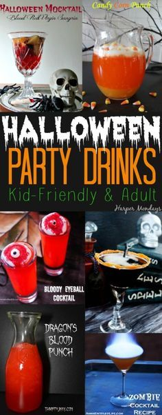 halloween party drinks that include kidfriendly punches and adult cocktails every recipe is