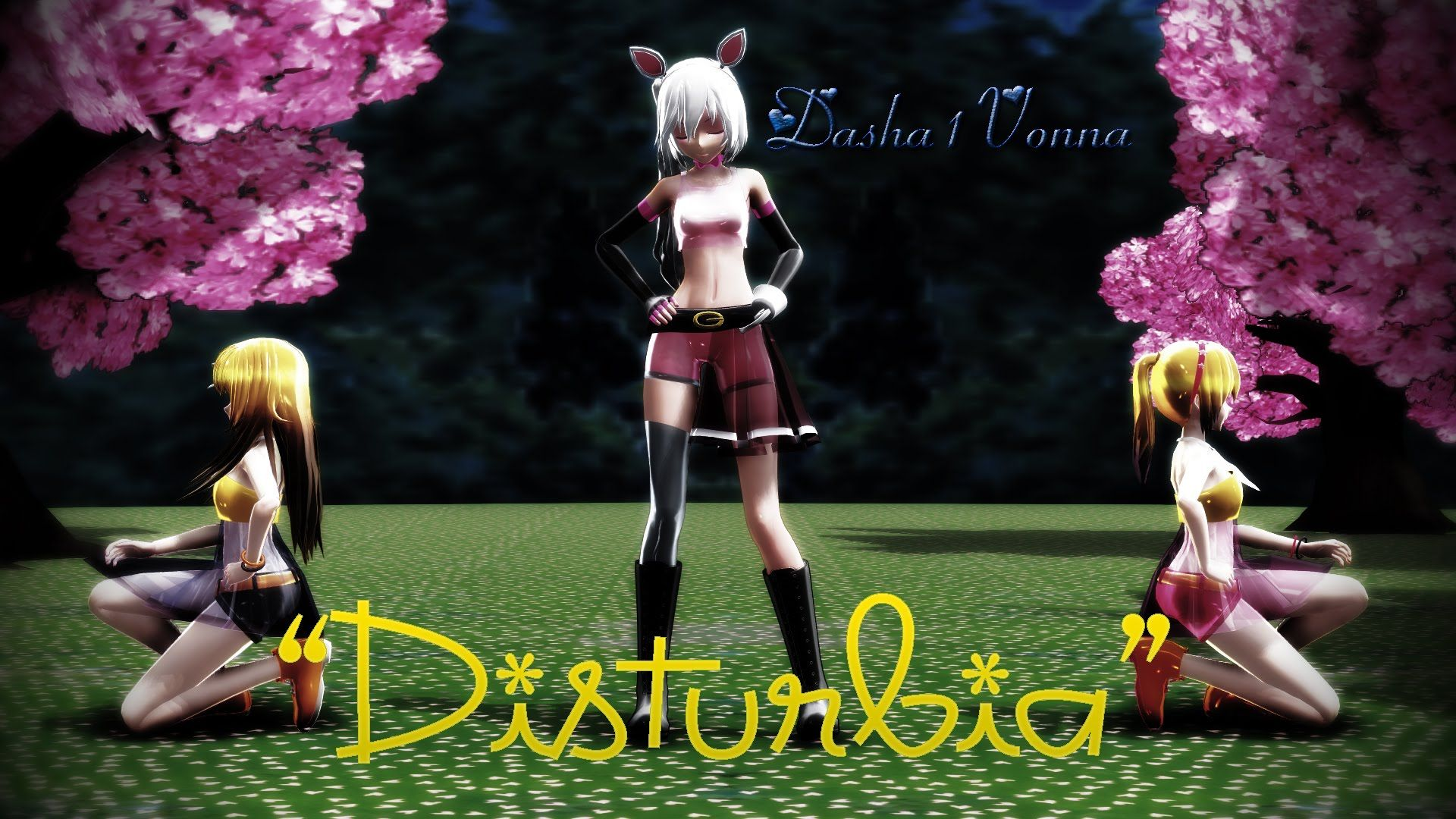 Toy chica x fem mangle preview undertale plans by red -  Mmd Mangle Chica And Toy Chica Disturbia