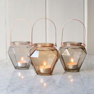Prism Glass Hanging Tealight Holder - candles & home fragrance