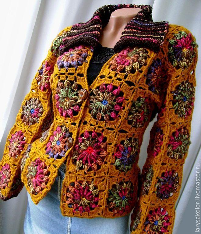 grannie squares jacket