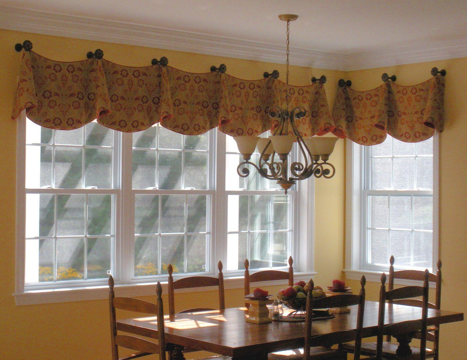 valance for the family room | Valance window treatments ...