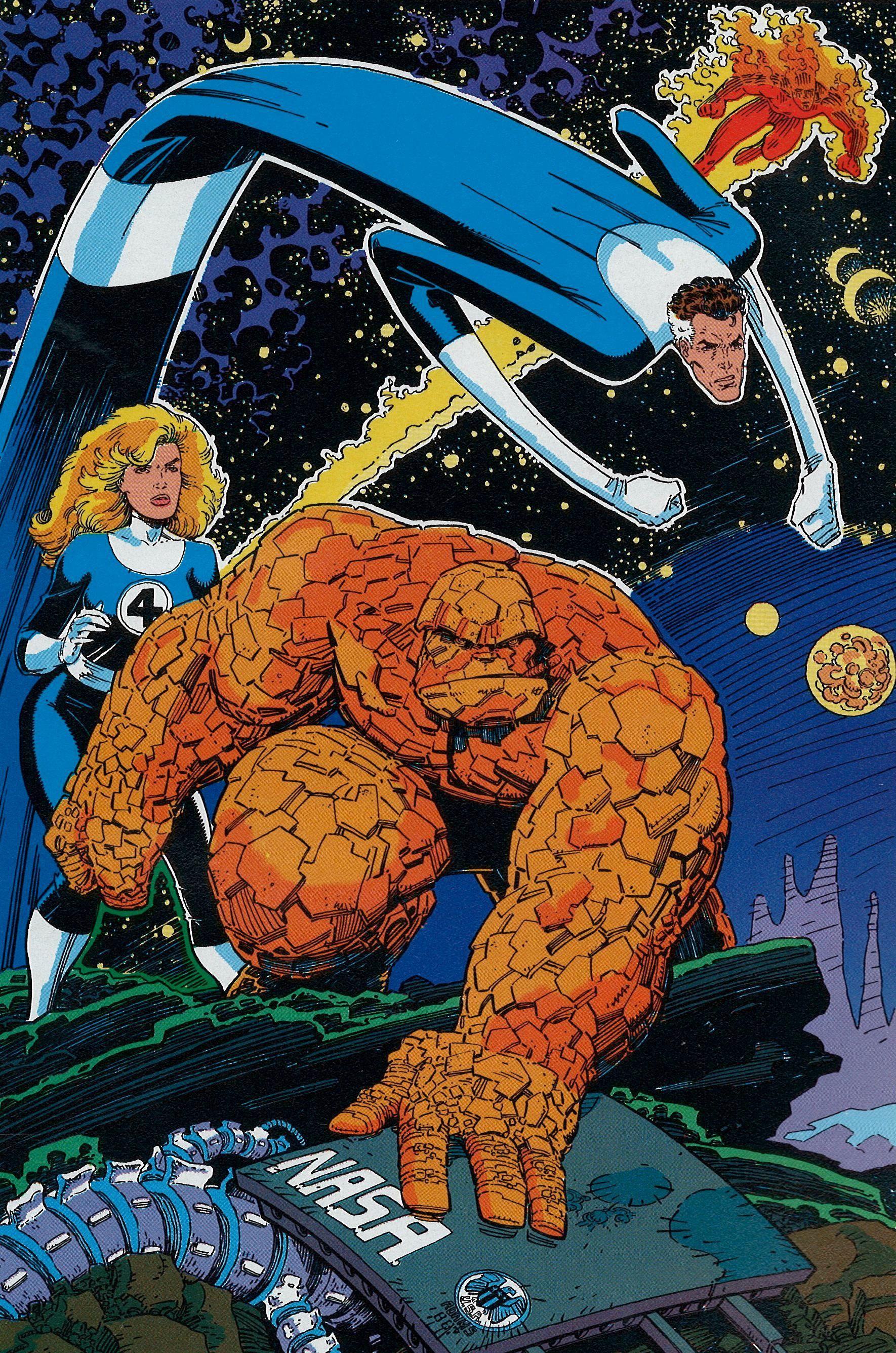 Fantastic Four Pinup By Art Adams Fantastic Four Comics Fantastic Four Marvel Fantastic Four