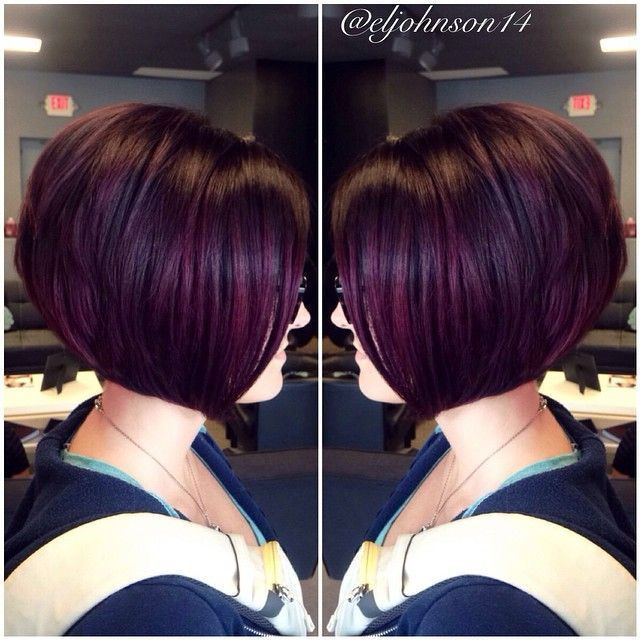 Image Result For Brown Hair With Purple Highlights Hair Ideas