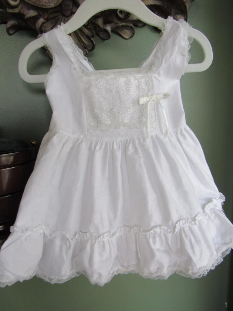 White cotton petticoat dress