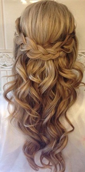 20 Amazing Half Up Half Down Wedding Hairstyle Ideas Oh Best Day Ever Long Hair Styles Hair Styles Braids For Long Hair