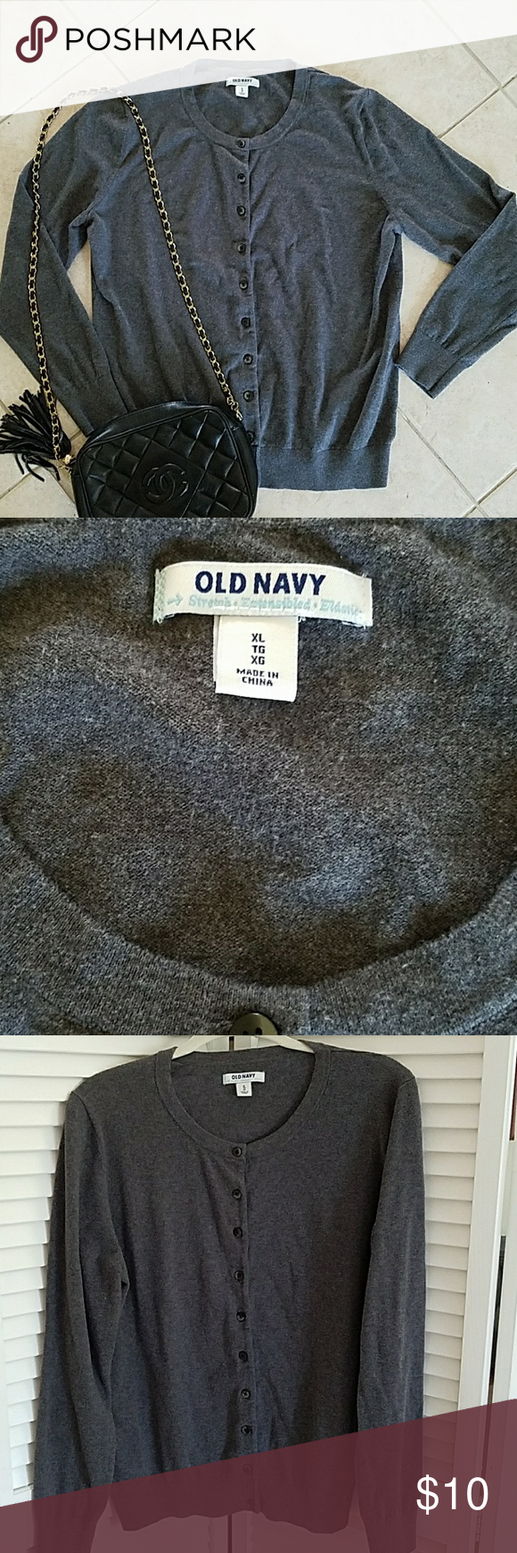 Old Navy cardigan sweater | Dark grey, Navy sweaters and Navy