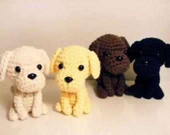 Amigurumi Dog Crochet Patterns : Labrador puppy amigurumi pattern dog crochet pattern golden