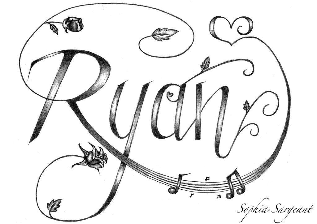 Ryan Name Tattoo Designs Design By | Ryan | Name tattoo ...