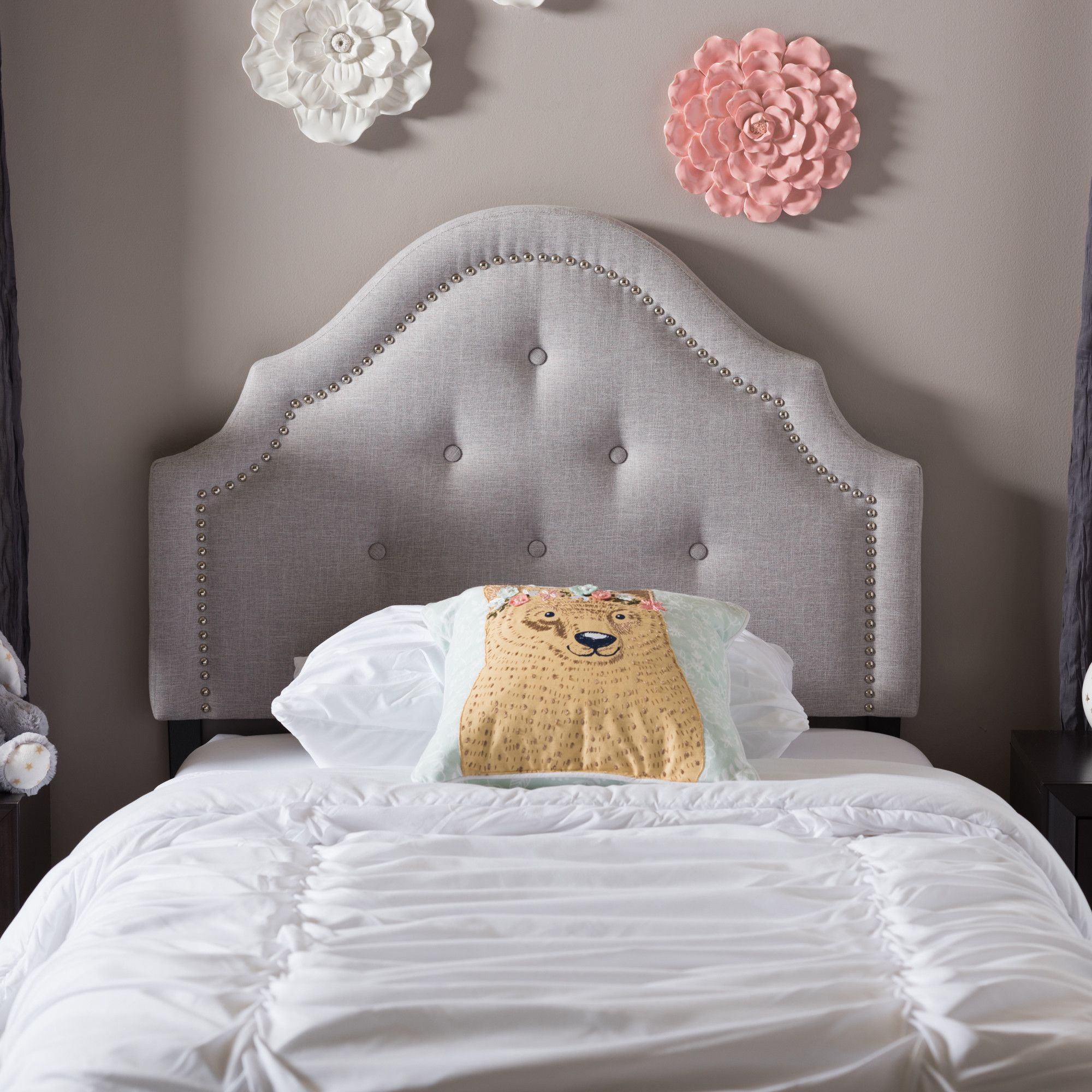 Wholesale Interiors Baxton Studio Twin Headboard   Bedroom ...