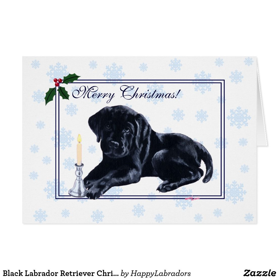 Black Labrador Retriever Christmas Snowflake Card | Deluxephotos ...
