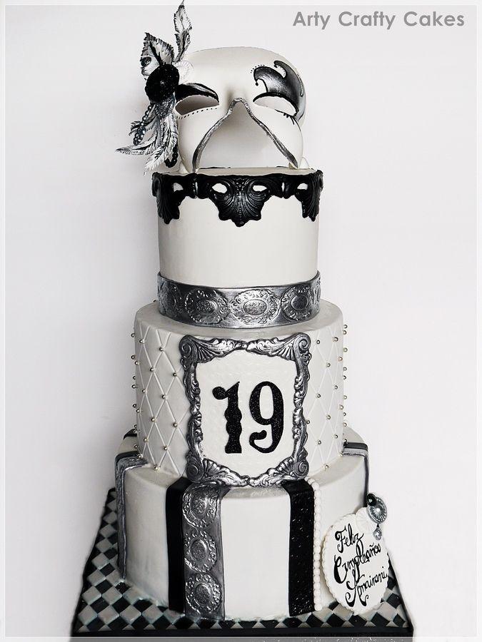 masquerade cake 100 edible gumpaste mask fondant covered cake