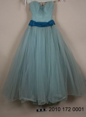 Light green tulle veiled prophet maid of honor dress 1957 for Wedding dress resale st louis
